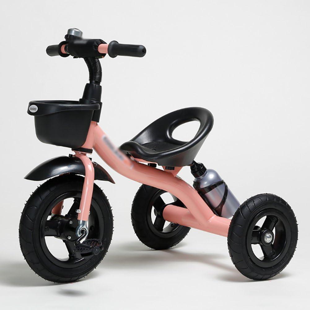 Triciclos WSSF- Pedal Infantil Bicicleta de Paseo 1-3-2-6 Años Coche Viejo Bebé Niño 3 Ruedas Bicicleta Niños Trike Cochecito con Asiento Ajustable, 74 * 48 * 58cm