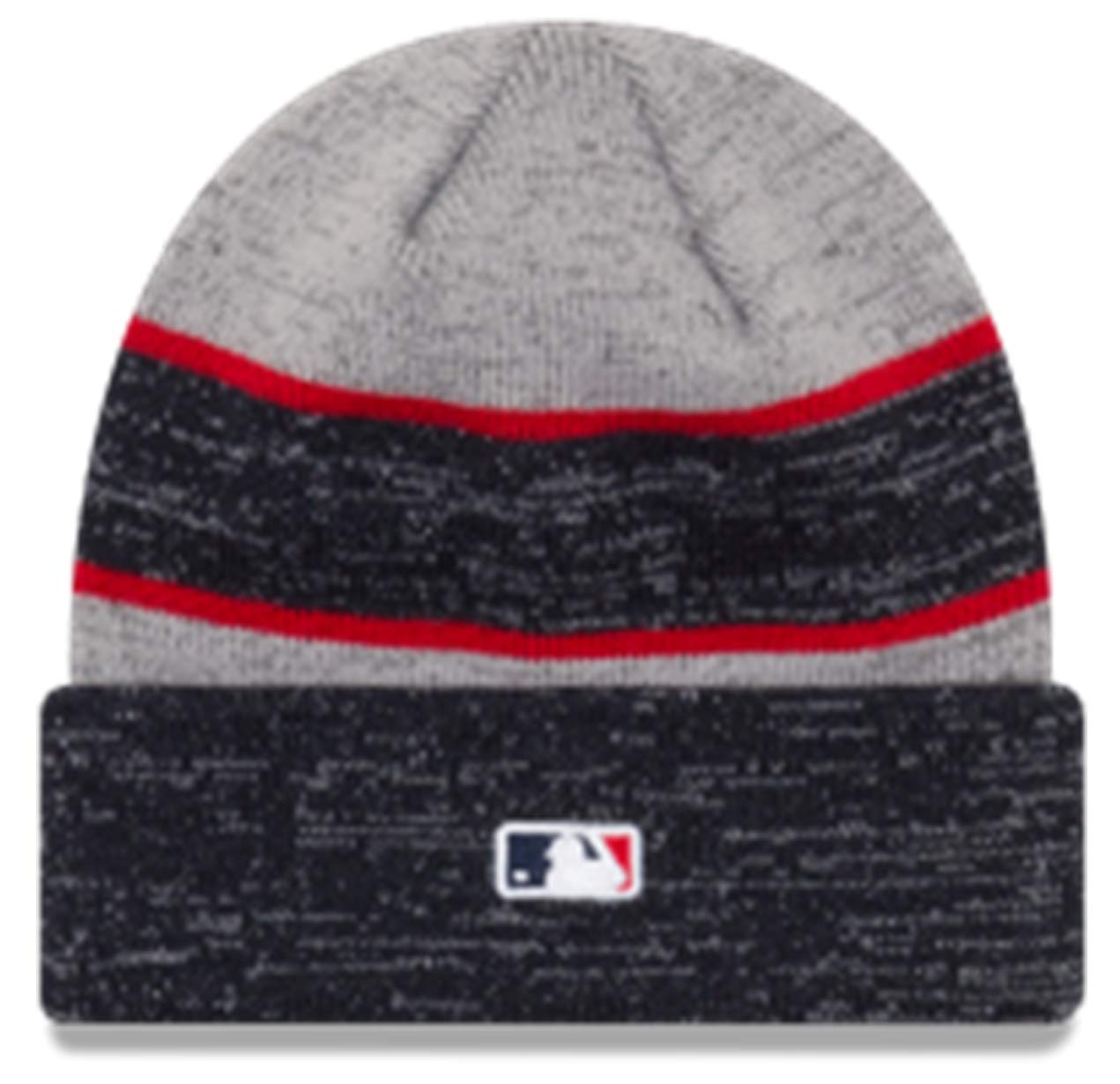 85e2c6b68f4 Amazon.com  New Era Authentic Atlanta Braves 2017-18 Cuff Sport Knit MLB  Onfield Sideline Beanie Unisex Hat Gray Navy