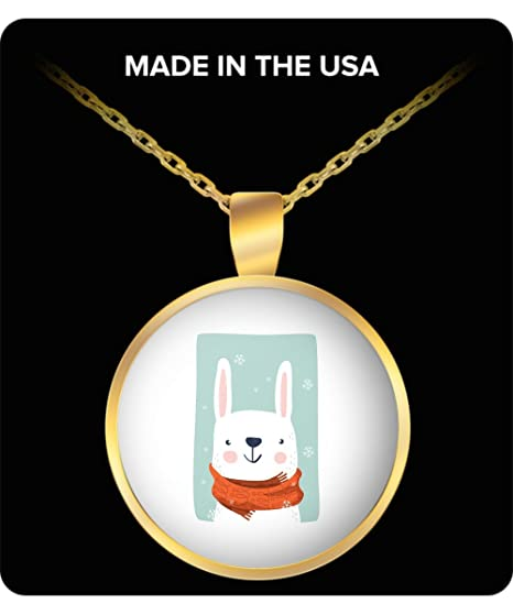 Made In USA Rabbit Pendant Necklace Gold Indian Men For Women Girls Girlfriend Birthday Gifts Funny
