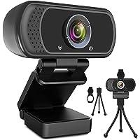 Webcam HD 1080p Web Camera, USB PC Computer Webcam with Microphone, Laptop Desktop Full HD Camera Video Webcam 110…