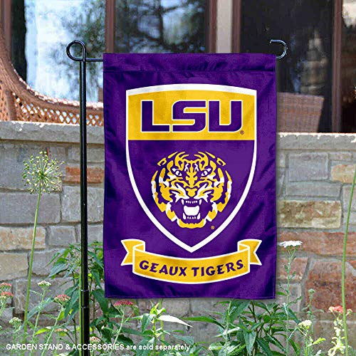 College Flags and Banners Co. Louisiana State LSU Tigers Shield Garden Flag