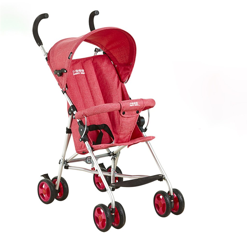 ベビーカーウルトラライトポータブルハーフフットヘッドチェアトロリー(ブルー)(ピンク)(パープル)570 * 460 * 930mm ( Color : Pink ) B07BTWPQRJ