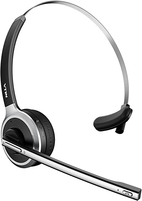 Vtin Bluetooth Headset With Microphone Wireless Headset Computer Headphone Lightweight And Hands Free With Mic Stereo Over The Head Business Headset For Skype Call Center Pc Phone Mac Amazon Ca Computers Tablets