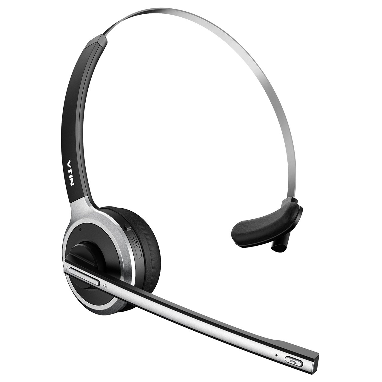 Vtin Bluetooth Headset with Microphone, Wireless Headset Computer Headphone Lightweight and Hands-Free with Mic, Stereo Over-the-Head Business Headset for Skype, Call Center, PC, Phone, Mac