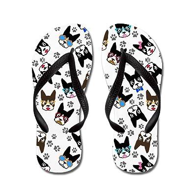 Boston Terrier - Flip Flops Funny Thong Sandals Beach Sandals