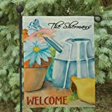 """Double Sided Personalized Spring Garden Flag, 12 1/2"""" w x 18"""" h, Polyester Review"""
