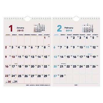 amazon キュービックス 2015 カレンダー ベーシックa a3 2ヶ月