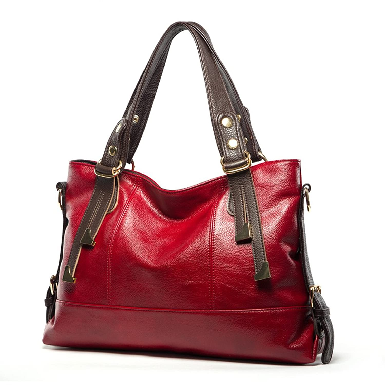 Mantos Eternity Women's Soft Leather Simple Casual Office Tote bags Large