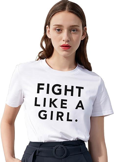 Mejores Amigas Camiseta Algodón Manga Corta Shirt Impresión Fight ...