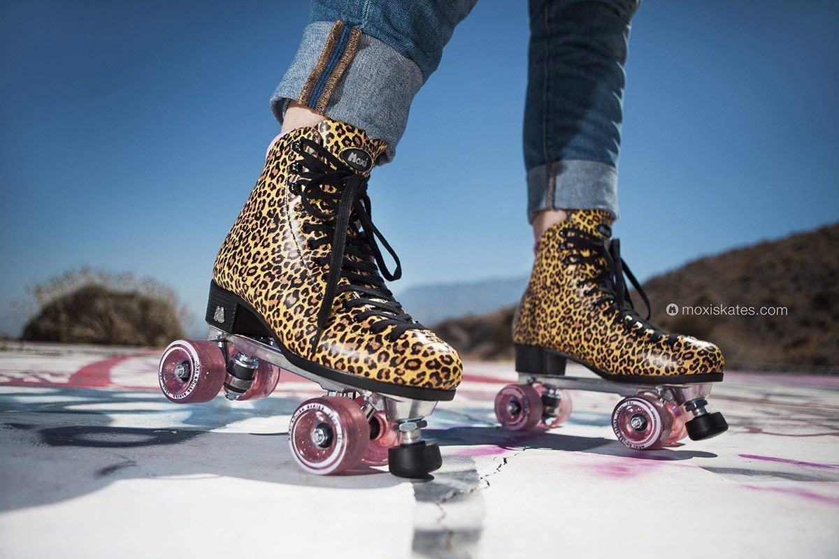 Ivy Jungle Size 6 Fashionable Womens Roller Skates Moxi Skates Leopard
