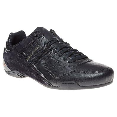 Diesel Men's Casual Shoe Korbin II S Suede Leather Lace Up Low Profile  Fashion Sneakers (