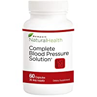 Complete Blood Pressure Solution: Blood Pressure Support Supplement, Healthy Blood Circulation Supplement and Bp Levels, Japanese Nattokinase, Grape Seed Extract 60 Capsules (30 Day Supply)