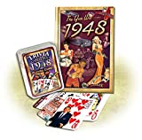 img - for 1948 Mini Book & Trivia Playing Cards Combo Gift: Happy 70th Birthday or Anniversary gift book / textbook / text book