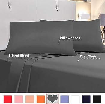Allo 4-Piece Queen Size Soft Microfiber Bed Set