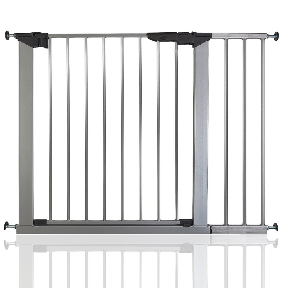 BabyDan Premier True Pressure Fit Baby Safety Stair Gate Silver All Widths (73.5cm-79.6cm)