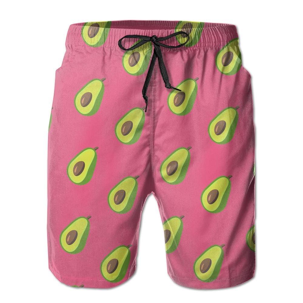 Men's Avocado Quick Dry Lightweight Fashion Board Shorts Swim Trunks M
