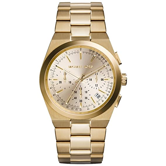 Amazon.com: Michael Kors Channing Champagne Dial Gold-tone Ladies Watch MK5926: Michael Kors: Watches