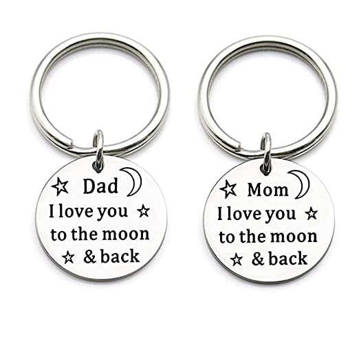Amazon com: Gifts for Dad Cute Love Keychain, Best Dad Gifts