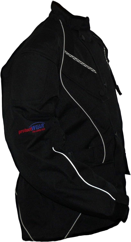 giacca tessile WCJ-101 Taglia 62 // 5XL nero Protectwear giacca da motociclista