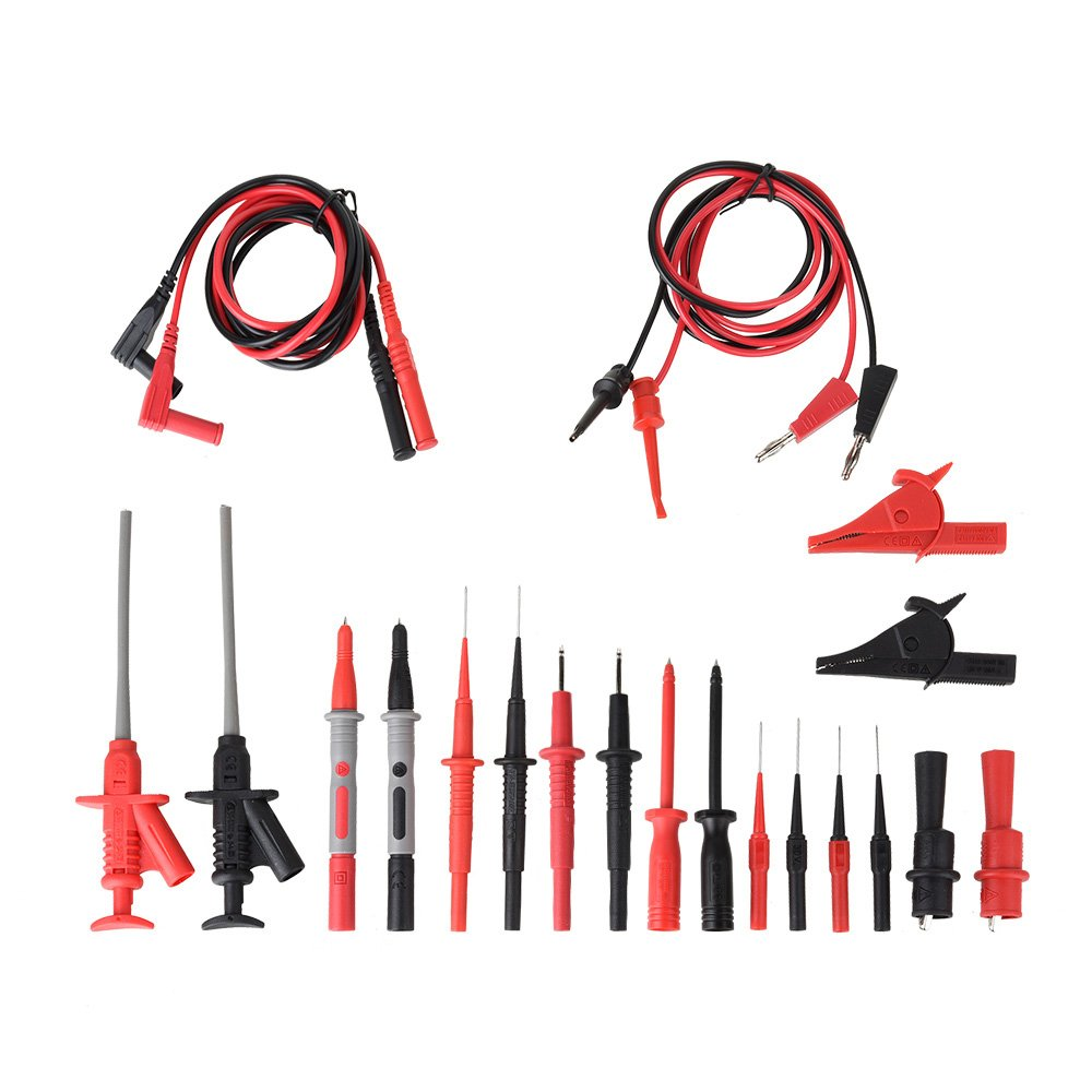 Messleitung Messleitungen f/ür Multimeter Messspitzen Kabel Set 10 St/ücke Professionelles elektronisches Zubeh/ör Set Inklusive Verl/ängerungskabel Abgreifklemmen usw Krokodilklemmen