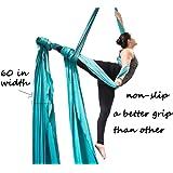 F.Life Aerial Silks Standard Kit Pilates Yoga Flying Swing Aerial Yoga Hammock Silk Fabric Yoga (10 Yards Fabric)