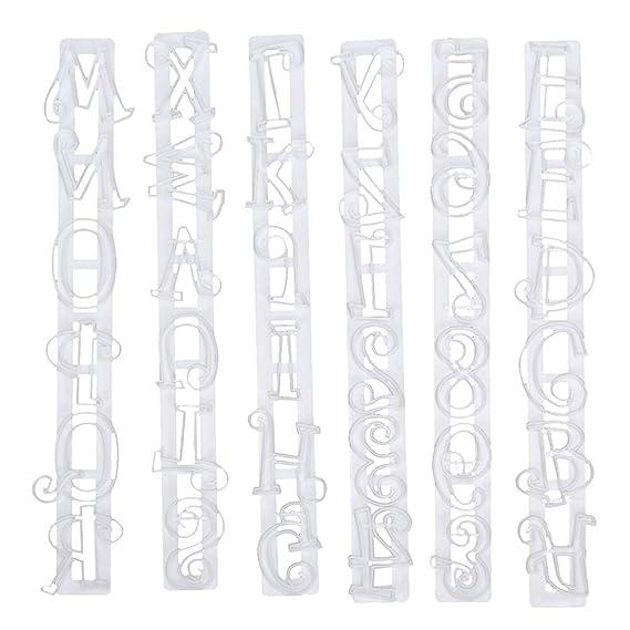Everpert - Molde para decoración de tartas, diseño de letras del alfabeto: Amazon.es: Hogar