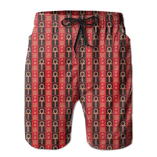 Africa And Gold Ankh Men's Summer Swim Surf TrunksXXL by MITUP