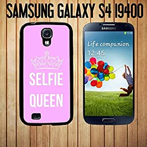 Selfie Queen Custom made Case/Cover/skin FOR Samsung Galaxy S4 - Black - Rubber Case ( Ship From CA)