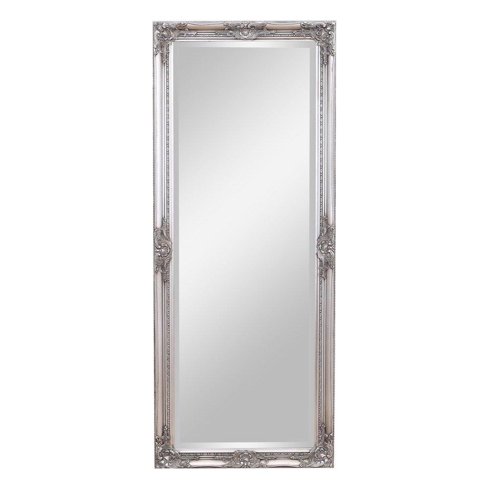 Barcelona Trading Kingsbury Large Vintage Ornate Full Length Wall Leaner Mirror Silver 24