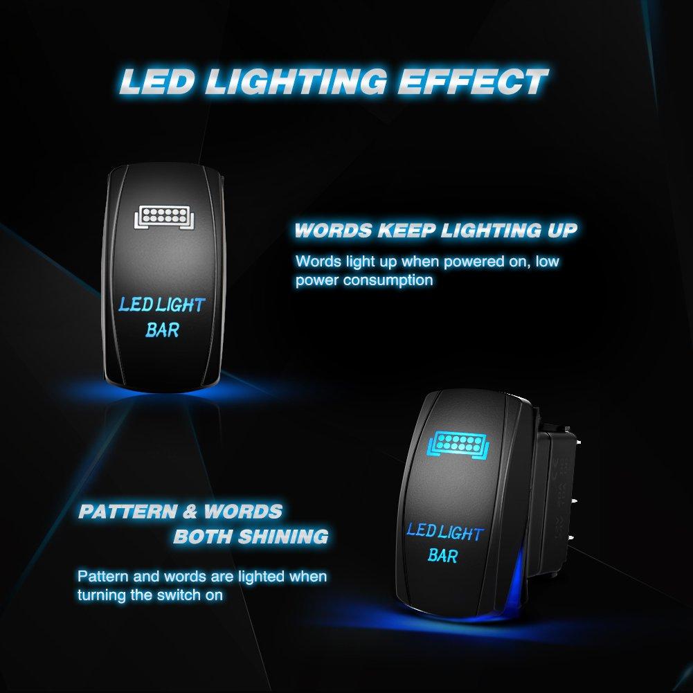 61dAtPVxdmL nilight ni wa 07 led light bar wiring harness kit 12v on off 5 pin