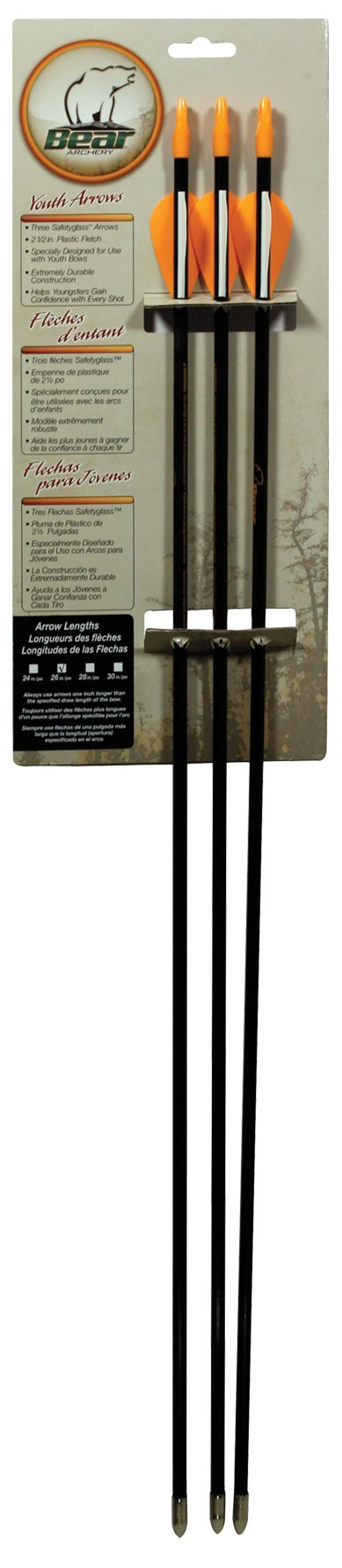 Bear Archery Youth Safetyglass Arrows (24 of Each Size)