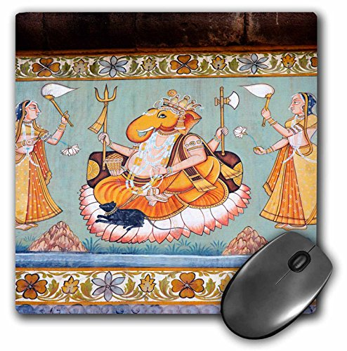- 3dRose Mural Painted on The Wall, Mehrangarh Fort, Jodhpur, Rajasthan, India Mouse Pad (mp_188254_1)