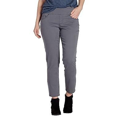 Jag Jeans Women's Amelia Slim Ankle Pull on Jean, Grey Streak, ...