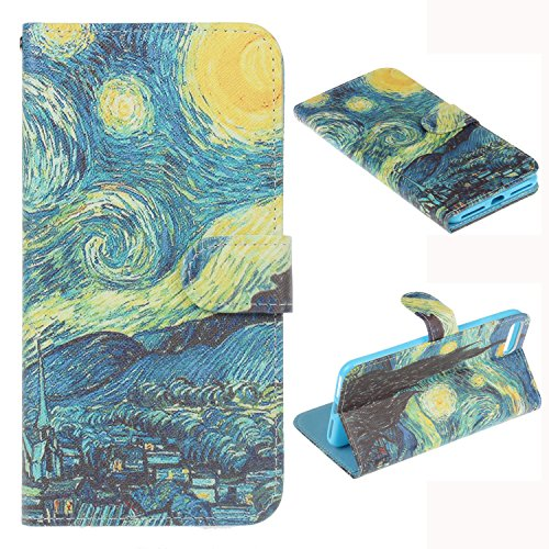 - Iphone 7 Plus Case, Iphone 8 Plus Wallet Case - Van Gogh Starry Night Pattern Premium PU Leather Wallet Card Holder Pouch Flip Case Cover with Stand Function for Apple iphone 7 Plus and iphone 8 Plus