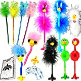 JOYIN 12 Pack Deluxe Feather Boa Marabou Pens Set Girls Party Favor