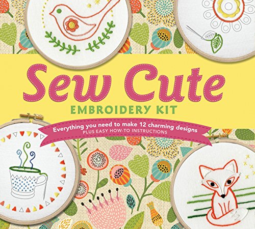 Best Review Of Sew Cute Embroidery Kit: Everything You Need to make 12 Charming Designs