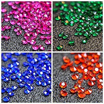 Acrylic Color Faux Round Diamond Crystals Treasure Gems for Table Scatters, Vase Fillers, Event, Wedding, Arts & Crafts ( 2000 pcs)