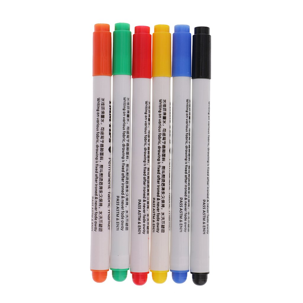Homyl 6 Pezzi Multi Colore Vernice Tessuto Marcatore T-shirt Graffiti Penna Per Mano Artigianato Vestiti Scarpe Design