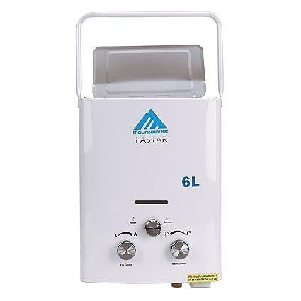 Calentador de gas propano instantáneo de Ridgeyard 6L LPG. Depósito de