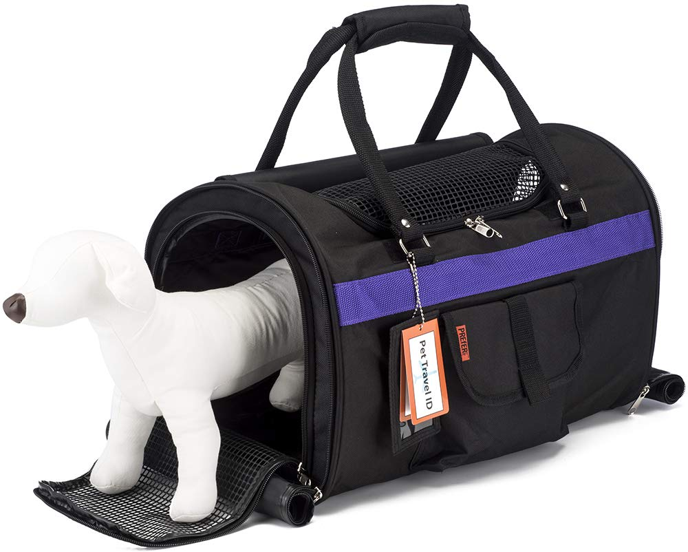 Prefer Pets: Hideaway Pet Travel Carrier - 17''L x 12''H x 10''D - Airline Approved Travel Carrier - Provides A Safe & Secure Way to Travel - Helps Reduce Pet's Fear & Anxiety by Prefer Pets Travel Gear