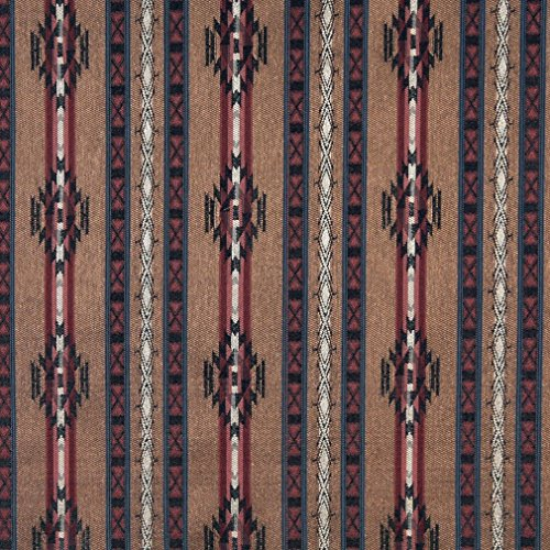F381 Striped Southwestern Navajo Lodge Style Upholstery Grade Fabric by The Yard -