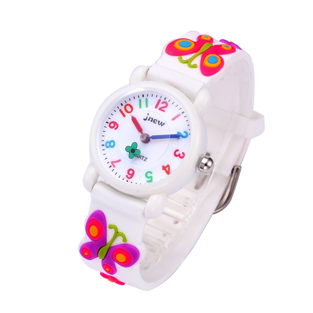 Kids Watches with 3D Cartoon Pattern Multi Colors Silicone Strap 3ATM Waterproof Analog Quartz Time Teacher Gift for Boys and Girls