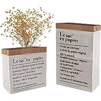 INHEMI 2 Sacos Grandes Papel Kraft,Bolsa de Almacenamiento de Papel,Le Sac En Papier Paper Bag para Guardar Juguetes…
