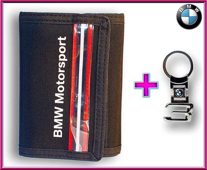 BMW originales deporte cartera (80212318271) + logo llavero ...