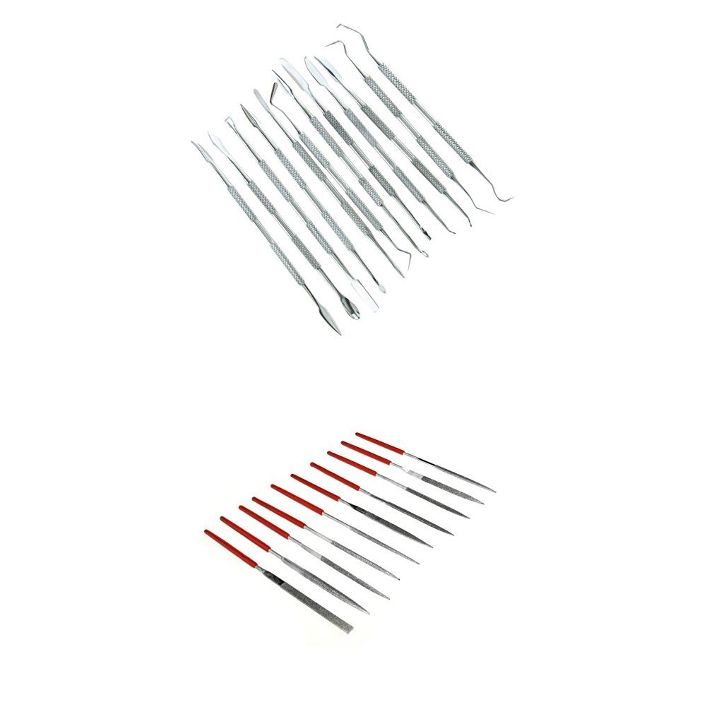 SE DD312 12-Piece Stainless Steel Wax Carvers Set with Diamond File