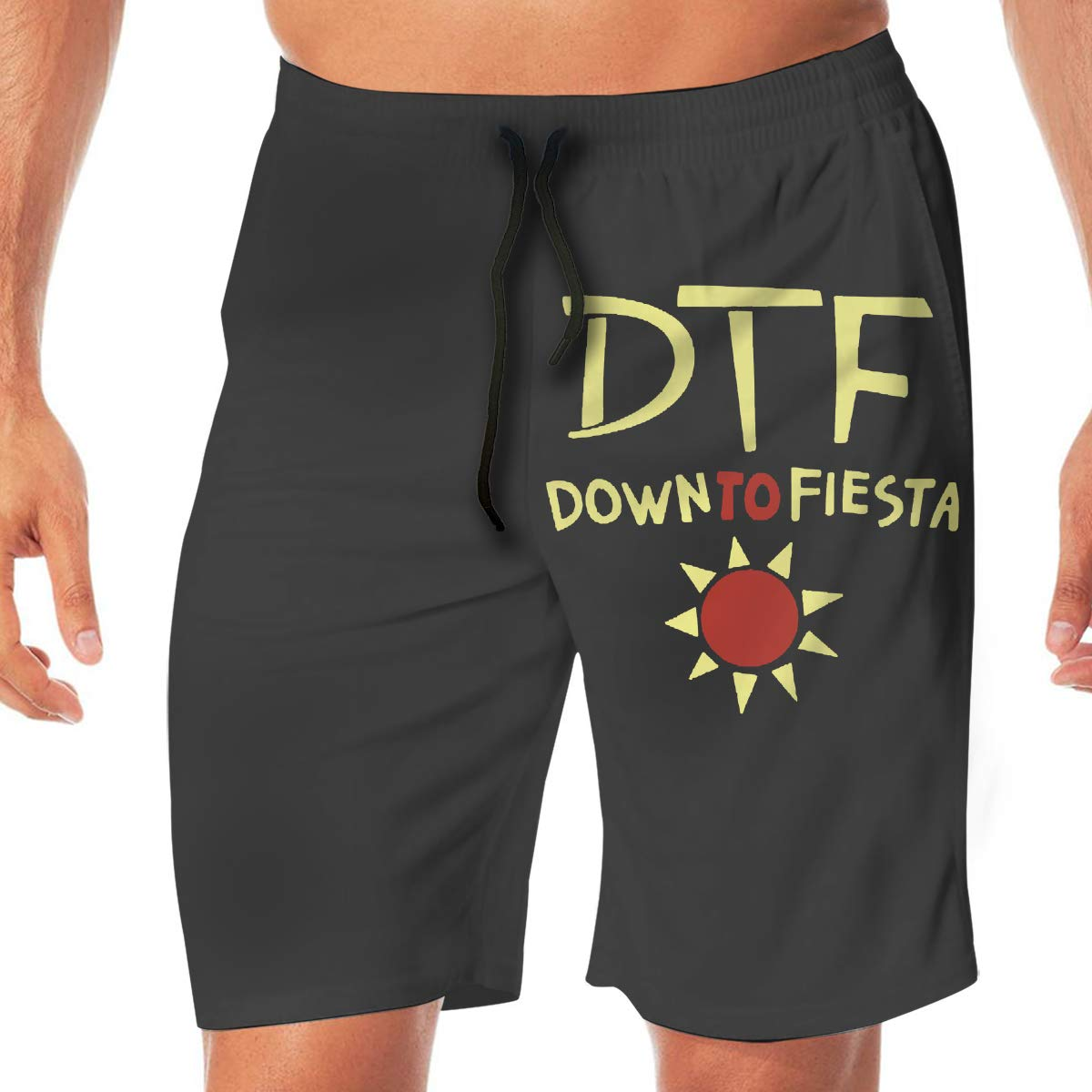 Down to Fiesta Mens Beach Shorts Casual Shorts Swim Trunks