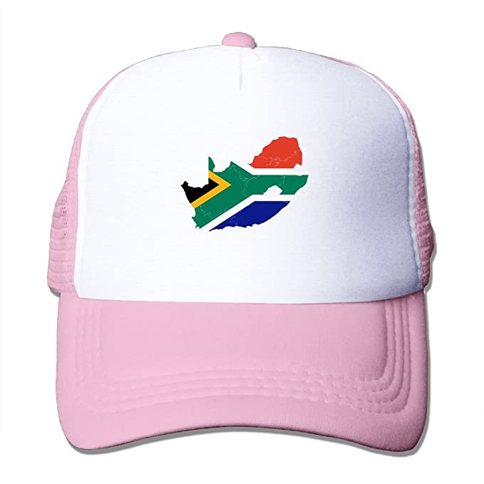 PJ090KA Custom Cute Unisex-Adult Flag Of South Africa Fishing Cap Hats Pink f517c99486f