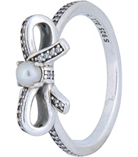 8947e423c ... pandora sterling silver delicate sentiments white pearl ring with clear cubic  zirconia 190971p Pearl Stackable Ring Best Of Pandora Everlasting Grace ...