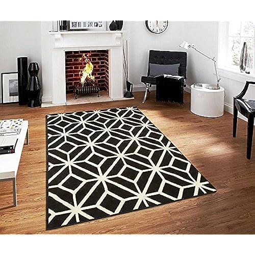 nice black white rug. Contemporary Rugs For Living Room Modern 5x7 Black and White Moroccan  Trellis Area Rug Carpet 5 x 7 Feet Amazon com
