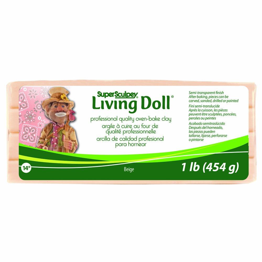 Polyform Sculpey Super Living Doll Clay, 1-Pound, Beige ZSLD-1